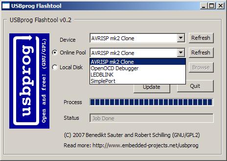 Obrázek 2: USB Flashtool